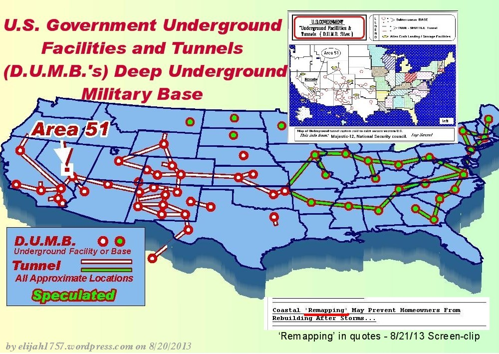 Secret Subway Map Location.The Hidden Deep Underground Military Bases In America