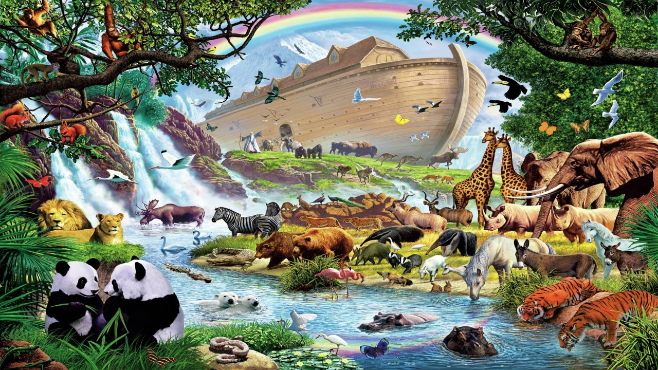 Noah's Ark - After The Flood Hd HD Desktop Background