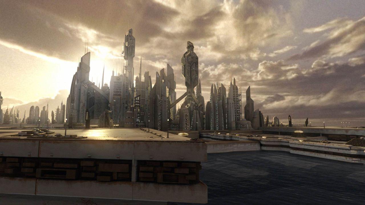 futuristic city atlantis