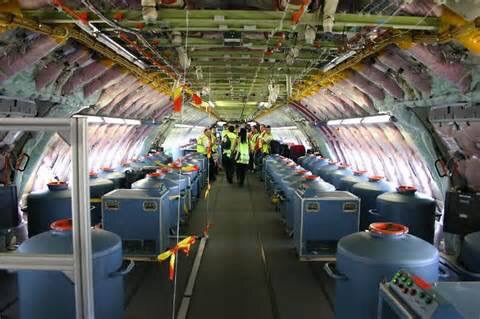 THE INTERIOR OF A CHEMTRAIL PLANE. THINK OF THE COSTS OF THIS PROGRAM!