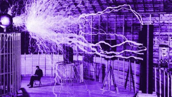 tesla lightinig coil image